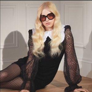 the Vampire's Wife- H&M Black Velvet Dress - M